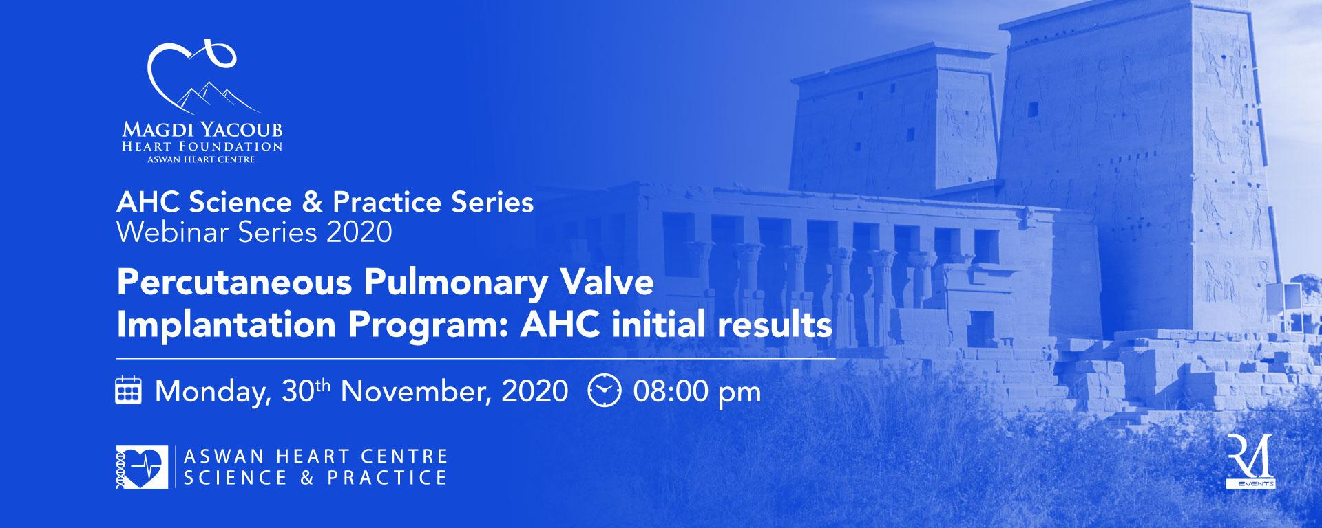 AHC Science & Practice Series Webinar Series 2020
